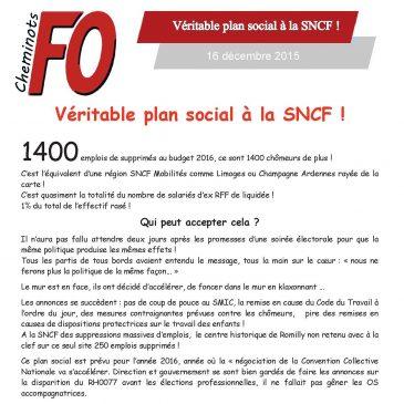 Véritable plan social à la SNCF