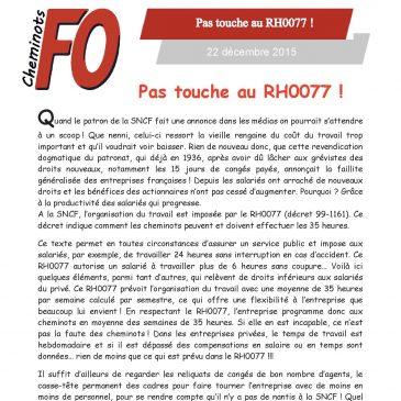 Pas touche au RH0077