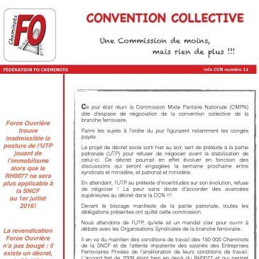 INFO CCN n°11, une commission de moins, mais rien de plus!!!