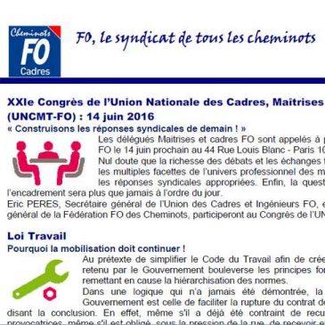 Newsletter numéro 13 de l'UNCMT FO