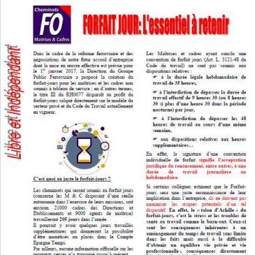 UNCMT-FO: Forfait jours: l'essentiel à retenir