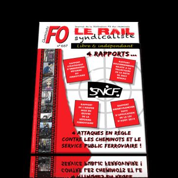Le Rail Syndicaliste numéro 657 NOVEMBRE DECEMBRE 2016