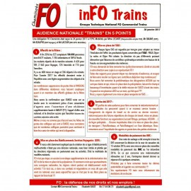 "InFO Trains: AUDIENCE NATIONALE ""TRAINS"" EN 5 POINTS"