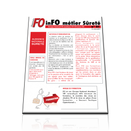 inFO métier Sûreté Groupe National FO moniteurs TIP (TIS et/ou TIR) N°01