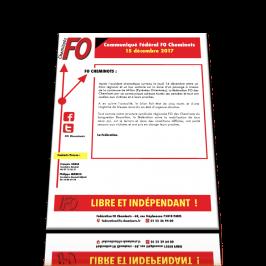 Communiqué FO Cheminots du 15 décembre 2017